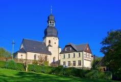 Chiesa di Niederalbertsdorf Fotografia Stock Libera da Diritti