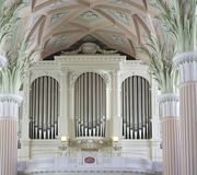 Chiesa di Nikolai in Germania Lipsia fotografie stock libere da diritti