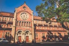 Chiesa di Nortedam, il punto di riferimento della città di Ho Chi Min, Vietnam Fotografie Stock Libere da Diritti