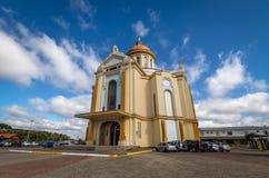 Chiesa di Nossa Senhora de Caravaggio Sanctuary - Farroupilha, Rio Grande do Sul, Brasile Fotografia Stock