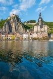 Chiesa di Notre-Dame in Dinant, Belgio Fotografia Stock