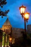 Chiesa di notte fotografie stock