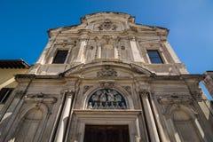 Chiesa Di Ognissanti (alle-Heiligenkerk) is een Franciscan kerk Stock Foto's