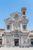 The Chiesa di Ognissanti church in Florence, Italy Stock Photography