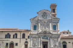 Chiesa Di Ognissanti, een Franciscan kerk in Florence, Italië royalty-vrije stock foto's