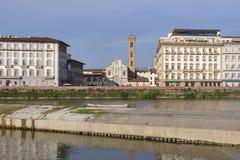 Chiesa di Ognissanti fasad i Florence, Italien Royaltyfri Bild