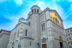 Chiesa di Orhodox a Trieste immagine stock libera da diritti