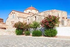 Chiesa di Panagia Ekatontapyliani, Paros Immagini Stock Libere da Diritti