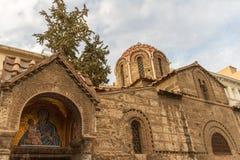 Chiesa di Panagia Kapnikarea, una chiesa antica a Atene, Greec fotografia stock libera da diritti