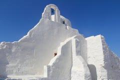 Chiesa di Panagia Paraportiani, isola di Mykonos Fotografia Stock Libera da Diritti