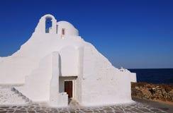 Chiesa di paraportiani di Panagia dei mykonos, Cicladi, Grecia Fotografia Stock Libera da Diritti