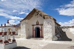 Chiesa di Parinacota, Cile Fotografia Stock