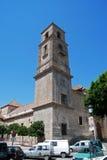 Chiesa di parrocchia di Alora, Spagna Fotografia Stock Libera da Diritti