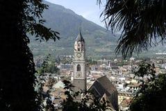 Chiesa di parrocchia di Merano Immagini Stock Libere da Diritti