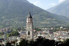 Chiesa di parrocchia di Merano Fotografia Stock