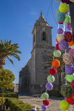 Chiesa di parrocchia di San Pedro a Sabiote Fotografia Stock Libera da Diritti