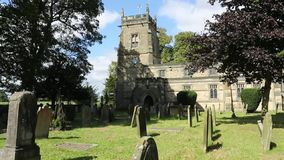 Chiesa di parrocchia inglese - Yorkshire - HD con il suono Fotografie Stock Libere da Diritti