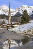 Chiesa di parrocchia di Maria Alm Fotografie Stock