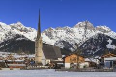 Chiesa di parrocchia di Maria Alm Immagine Stock