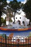 Chiesa di parrocchia a Mijas nelle montagne sopra Costa del Sol in Spagna Fotografie Stock