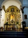 Chiesa di parrocchia a Mijas una di villaggi 'bianchi' più bei di Andalusia Fotografia Stock