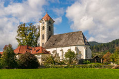 Chiesa di parrocchia nel hlbach del ¼ di Obermà Fotografia Stock