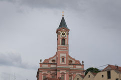 Chiesa di parrocchia Saint Paul in Passavia Fotografia Stock