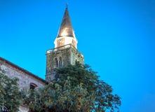 Chiesa di parrocchia San Vito, Modesto e Crescenzia, Groznjan Fotografia Stock Libera da Diritti