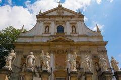 Chiesa di Paul e di Peter santo a Cracovia immagine stock libera da diritti