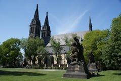 Chiesa di Pauls e di Peters a Praga Fotografia Stock