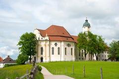 Chiesa di pellegrinaggio di Wies, Baviera, Germania Fotografia Stock Libera da Diritti