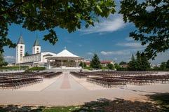 Chiesa di pellegrinaggio in Medjugorje Fotografia Stock Libera da Diritti