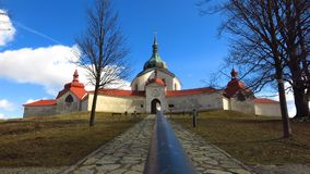 Chiesa di pellegrinaggio di St John di Nepomuk in Zdar nad Sazavou, repubblica Ceca Fotografia Stock Libera da Diritti