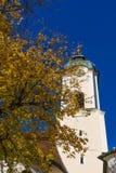 Chiesa di pellegrinaggio di Wies Wieskirche in alpi, Baviera, Germania Immagine Stock Libera da Diritti