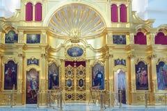 Chiesa di Peter e di Paul Icone nella chiesa ortodossa altar Fotografia Stock