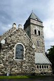 Chiesa di pietra del lesund di Ã… Immagine Stock