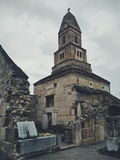 Chiesa di pietra rumena medievale fotografia stock libera da diritti