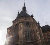 Chiesa di Praga al crepuscolo Immagine Stock