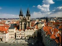 Chiesa di Praga della nostra signora Before Tyn Fotografie Stock
