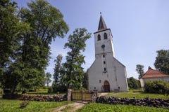 Chiesa di Puhalepa, isola di Hiiumaa, Estonia Fotografie Stock