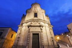 Chiesa di Purgatorio a Matera Fotografie Stock Libere da Diritti