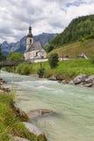 Chiesa di Ramsau vicino a Berchtesgaden in alpi bavaresi tedesche Immagini Stock