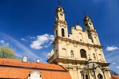 Chiesa di rococò dell'ascensione e del monastero, Vilnius, Lituania Immagini Stock