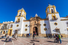 Chiesa di Ronda, Malaga, Spagna Immagini Stock Libere da Diritti