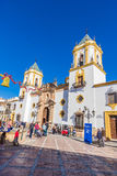 Chiesa di Ronda, Malaga, Spagna Fotografia Stock