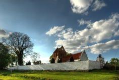 Chiesa di Rosted in Danimarca Immagini Stock Libere da Diritti