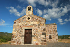 Chiesa di s.maria zuradili. A church where to pray in peace Royalty Free Stock Photography