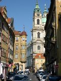 Chiesa di Saint Lawrence, Praga, repubblica Ceca Immagine Stock Libera da Diritti