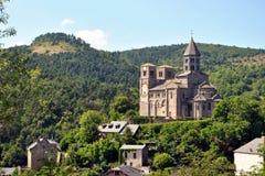 Chiesa di Saint Nectaire immagini stock libere da diritti