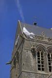 Chiesa di Sainte-mero-Eglise Immagini Stock